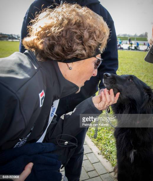 Princess Margriet of The Netherlands at the Hollandse 100 ice skating and cycling fund raising event at Flevonice on March 5 2017 in Biddinghuizen...