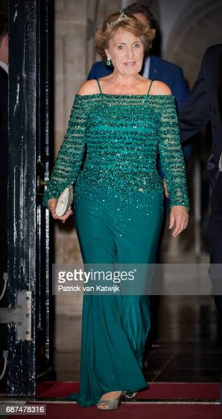 Princess Margriet of The Netherlands leave after the gala dinner for the Corps Diplomatic at the Royal Palace on May 23 2017 in Amsterdam Netherlands