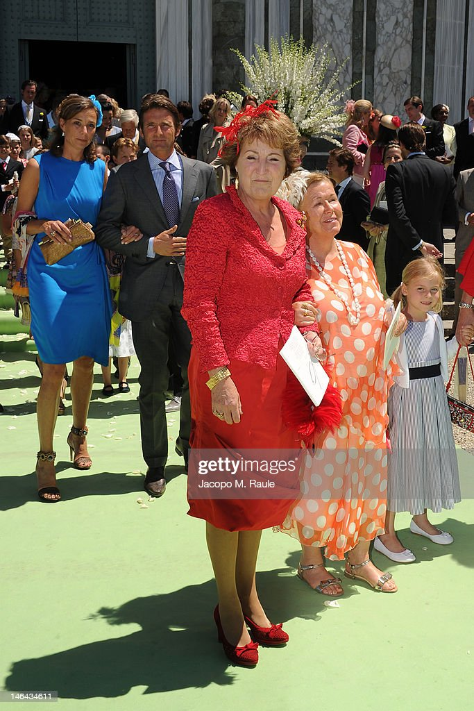 Princess Margriet of the Netherlands leaves the Princess Carolina Church Wedding With Mr Albert Brenninkmeijer at Basilica di San Miniato al Monte on June 16, 2012 in Florence, Italy.