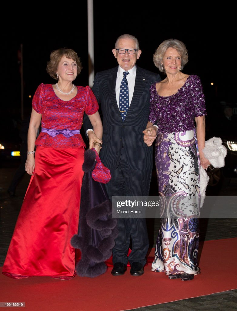 Princess Margriet of The Netherlands, Pieter van Vollenhove and Princess Irene of The Netherlands attend a celebration of the reign of Princess Beatrix on February 1, 2014 in Rotterdam, Netherlands.