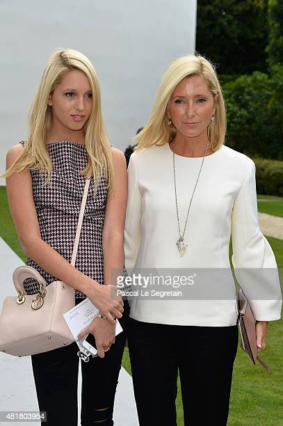 Princess Maria Olympia of Greece and Crown Princess Marie Chantal of Greece attend the Christian Dior show as part of Paris Fashion Week Haute...