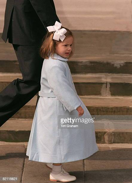Princess Mariaolympia At The Christening Of Her Brother Konstantine Alexios