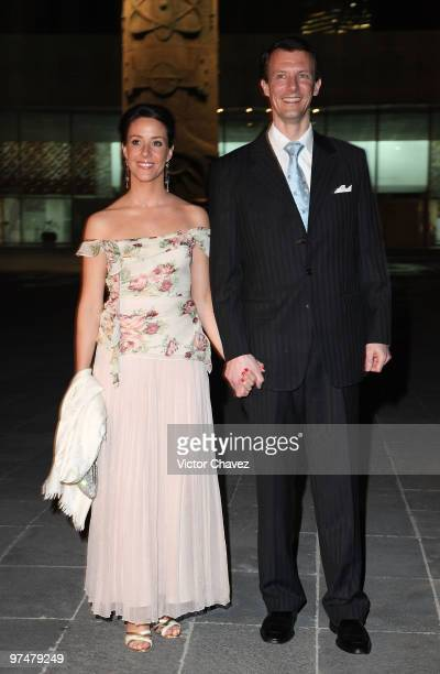 Princess Marie and Prince Joachim of Denmark visit the Antropologic National Museum on March 5 2010 in Mexico City Mexico The Royals are in a...