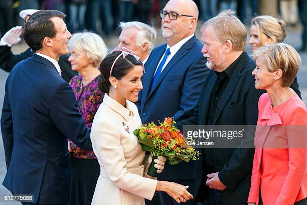 Princess Marie and Prince Joachimk is greeted by the Presidium for the Parliament where they and the rest of the Royal family will attend the opening...