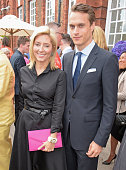 Princess Marie Chantal of Greece and Arthur Wellesley Marquess of Douro attend The Ralph Lauren Vogue Wimbledon Summer Cocktail Party hosted by...