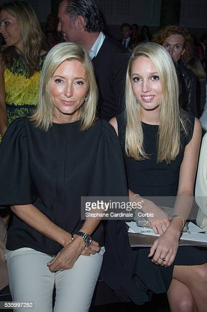Princess Marie Chantal of Greece and daughter Princess Olympia attends the Elie Saab show during the Paris Fashion Week Haute Couture Fall/Winter...