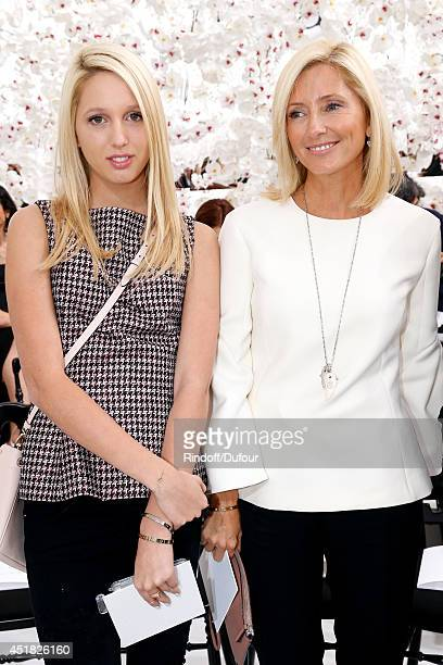 Princess Marie Chantal of Greece and her daughter Princess Maria Olympia of Greece attend the Christian Dior show as part of Paris Fashion Week Haute...
