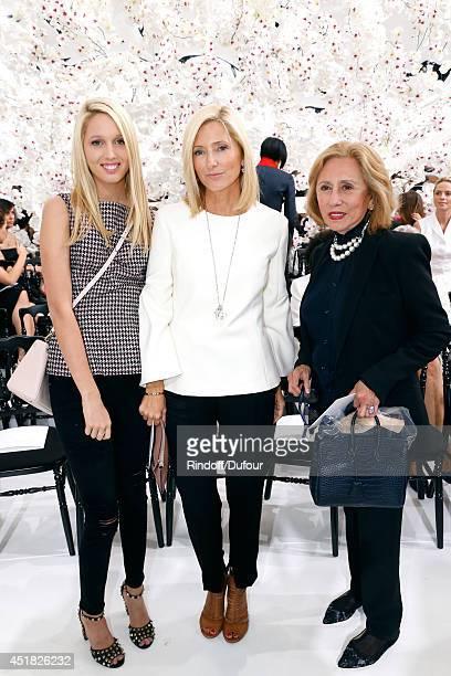 Princess Marie Chantal of Greece standing between her daughter Princess Maria Olympia of Greece and her mother Princess of Greece attend the...