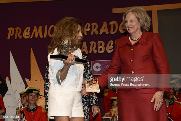 Princess Marie Louise von Preussen and Lolita Flores attend '2014 Cofrades Awards' on April 9 2014 in Marbella Spain