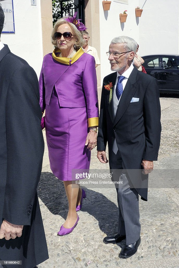 Princess Marie Louise von Preussen attends the wedding of her daughter Sophie Von Schonburg and Carlos Andreu on September 21, 2013 in Ronda, Spain.