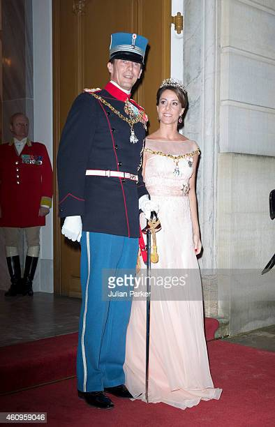 Princess Marie of Denmark and Prince Joachim of Denmark attend a New Years Levee and Banquet at Christian VII's Palace on January 1 2015 in...