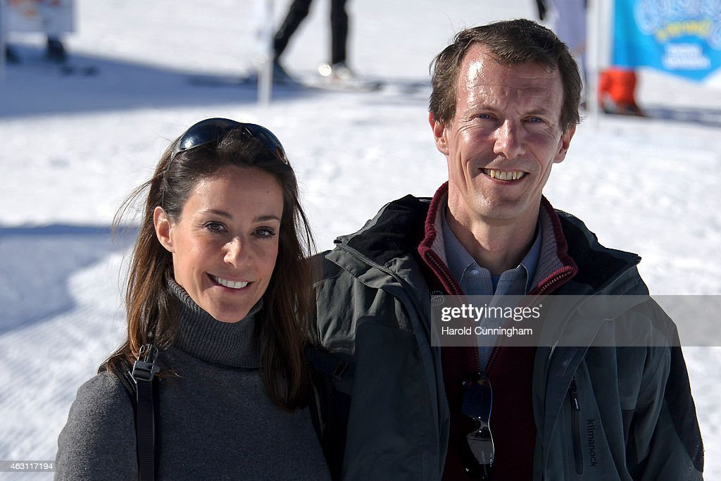 Princess Marie of Denmark and Prince Joachim of Denmark attend the Danish Royal family annual skiing photocall whilst on holiday on February 10, 2015 in Col-de-Bretaye near Villars-sur-Ollon, Switzerland.