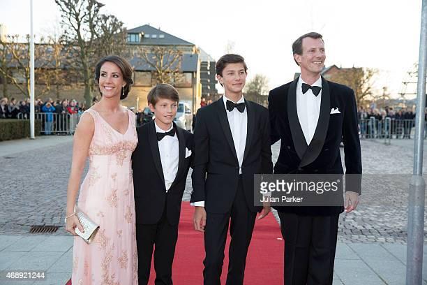 Princess Marie of Denmark and Prince Joachim of Denmark with Prince Joachim's sons Prince Felix and Prince Nikolai attend a Gala Night to mark the...