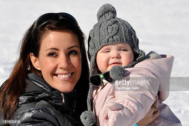 Princess Marie of Denmark and Princess Athena of Denmark meet the press whilst on skiing holiday in Villars on February 13 2013 in VillarssurOllon...