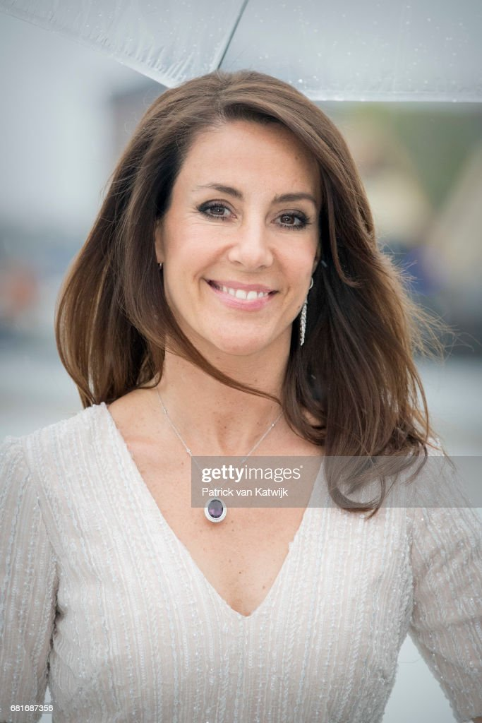 Princess Marie of Denmark arrives at the Opera House on the ocassion of the celebration of King Harald and Queen Sonja of Norway 80th birthdays on May 10, 2017 in Oslo, Norway.