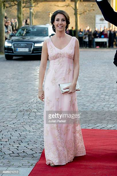Princess Marie of Denmark attends a Gala Night to mark the forthcoming 75th Birthday of Queen Margrethe II of Denmark at Aarhus Concert Hall on April...