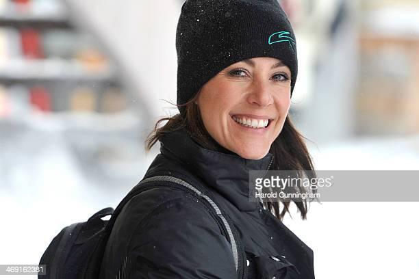 Princess Marie of Denmark meets the press whilst on skiing holiday in Villars on February 13 2014 in VillarssurOllon Switzerland