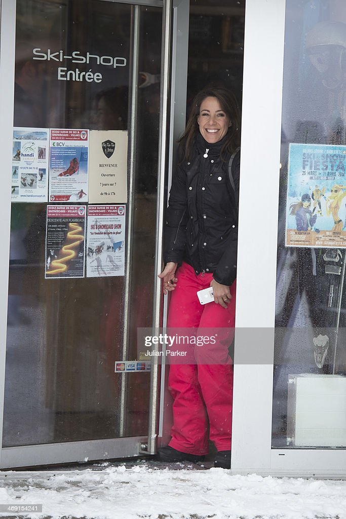 Princess Marie of Denmark poses during her annual winter family holiday photocall on February 13, 2014 in Villars-sur-Ollon, Switzerland.