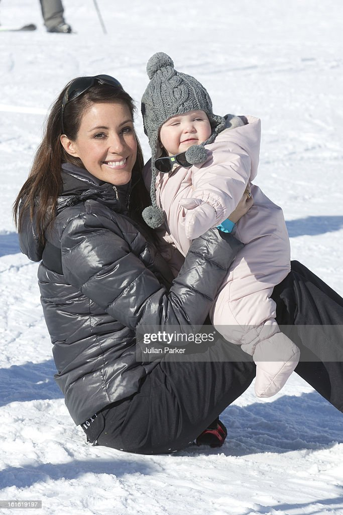 <a gi-track='captionPersonalityLinkClicked' href=/galleries/search?phrase=Princess+Marie+of+Denmark&family=editorial&specificpeople=5611388 ng-click='$event.stopPropagation()'>Princess Marie of Denmark</a> poses with her daughter Princess Athena during their annual skiing holiday on February 13, 2013 in Villars-sur-Ollon, Switzerland.