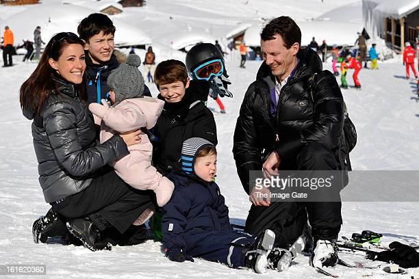 Princess Marie of Denmark Prince Nikolai of Denmark Prince Felix of Denmark Princess Athena of Denmark Prince Henrik of Denmark and Prince Joachim of...