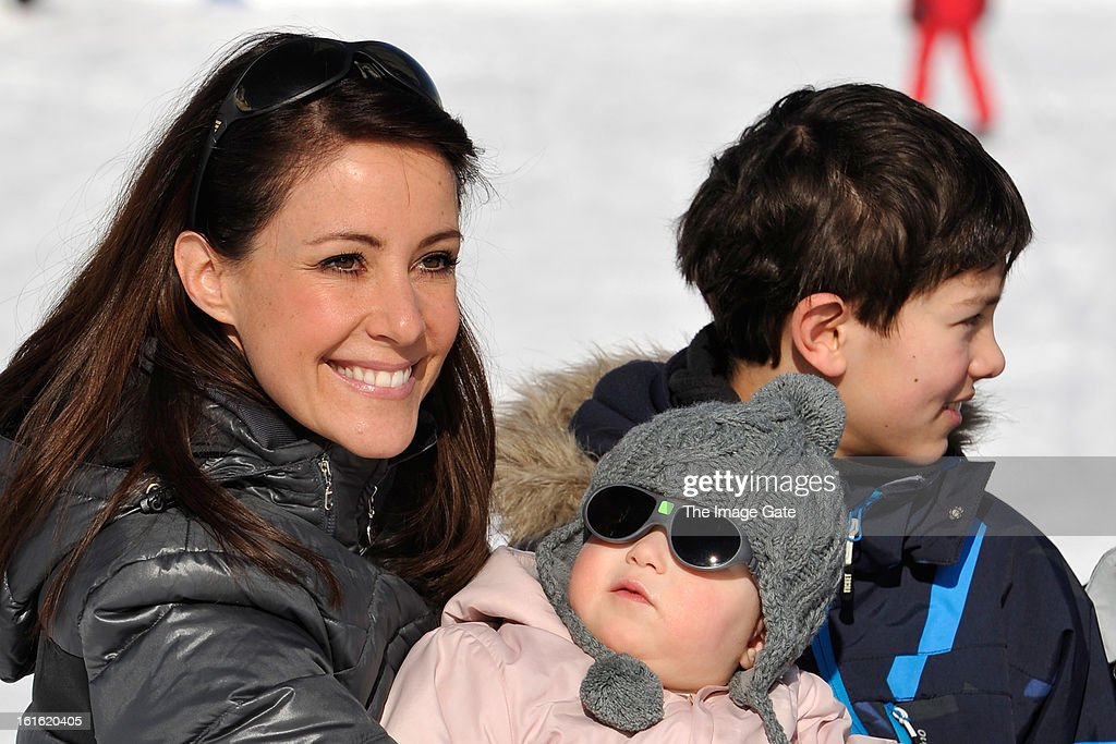 <a gi-track='captionPersonalityLinkClicked' href=/galleries/search?phrase=Princess+Marie+of+Denmark&family=editorial&specificpeople=5611388 ng-click='$event.stopPropagation()'>Princess Marie of Denmark</a>, Princess Athena of Denmark and Prince Nikolai of Denmark meet the press, whilst on skiing holiday in Villars on February 13, 2013 in Villars-sur-Ollon, Switzerland.