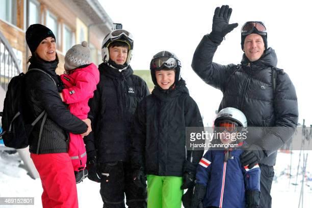 Princess Marie of Denmark Princess Athena of Denmark Prince Nikolai of Denmark Prince Felix of Denmark Prince Henrik of Denmark and Prince Joachim of...