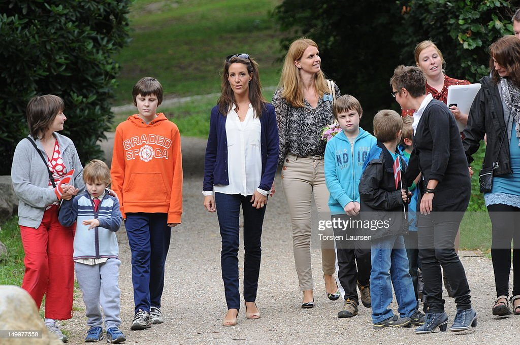 Princess Marie of Denmark visits the National Association Autism Elsinore Holiday Village on August 8, 2012 in Helsingor, Denmark.