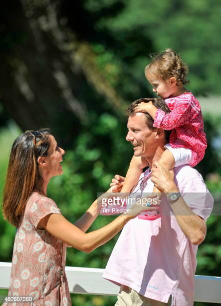 Princess Marie Prince Joachim and Princess Athena attend the annual summer photo call for the Royal Danish family at Grasten Castle on July 24 2014...