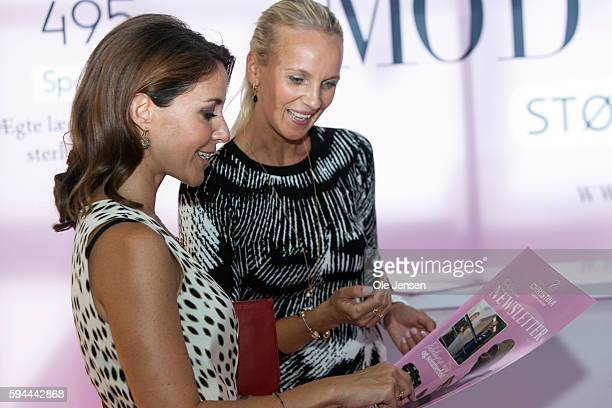 Princess Marie visits as protector Copenhagen Jewellery and Watch Show where she presents award prize and talks to exhibitors at the show in...