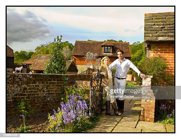 Princess MarieChantal and Prince Palvos of Greece are photographed at their home 'Beale House' for Vanity Fair Spain on May 23 2009 in West Sussex...