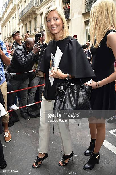 Princess MarieChantal of Greece arrives to attend the Elie Saab show as part of Paris Fashion Week Haute Couture Fall/Winter 20142015 on July 9 2014...