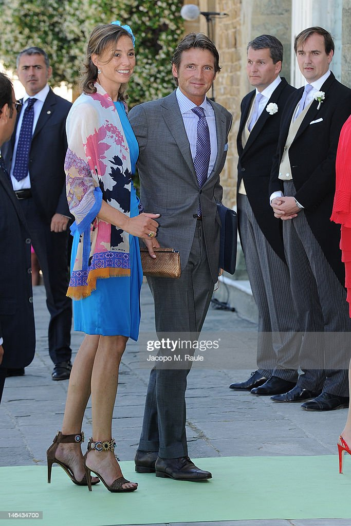Princess Marilene and <a gi-track='captionPersonalityLinkClicked' href=/galleries/search?phrase=Prince+Maurits+of+the+Netherlands&family=editorial&specificpeople=2644808 ng-click='$event.stopPropagation()'>Prince Maurits of the Netherlands</a> arrive for the Princess Carolina Church Wedding With Mr Albert Brenninkmeijer at Basilica di San Miniato al Monte on June 16, 2012 in Florence, Italy.