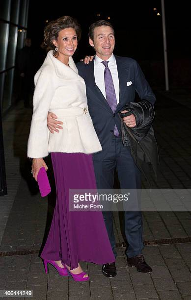 Princess Marilene and Prince Maurits of The Netherlands leave after attending a celebration of the reign of Princess Beatrix on February 1 2014 in...