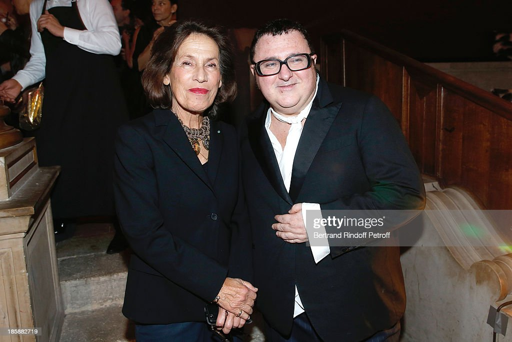 Princess Marina de Grece and fashion designer <a gi-track='captionPersonalityLinkClicked' href=/galleries/search?phrase=Alber+Elbaz&family=editorial&specificpeople=783481 ng-click='$event.stopPropagation()'>Alber Elbaz</a> - Designer <a gi-track='captionPersonalityLinkClicked' href=/galleries/search?phrase=Alber+Elbaz&family=editorial&specificpeople=783481 ng-click='$event.stopPropagation()'>Alber Elbaz</a> pays tribute to Cesar Baldaccini by an Evening Pic-Nic at the Ecole Nationale Superieure des Beaux Arts de Paris on October 25, 2013 in Paris, France.