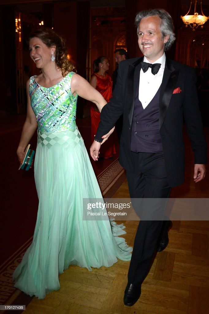 Princess Martha Louise of Norway and Ari Mikael Behn attend a private dinner on the eve of the wedding of Princess Madeleine and Christopher O'Neill hosted by King Carl XVI Gustaf and Queen Silvia at The Grand Hotel on June 7, 2013 in Stockholm, Sweden.