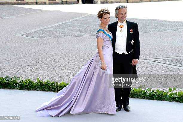 Princess Martha Louise of Norway and Ari Mikael Behn attend the wedding of Princess Madeleine of Sweden and Christopher O'Neill hosted by King Carl...