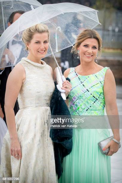 Princess Martha Louise of Norway and Sophie Countess of Wessex arrive at the Opera House on the ocassion of the celebration of King Harald and Queen...