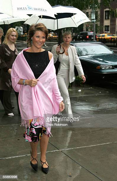 Princess Martha Louise of Norway arrives at Scandinavia House to read and sign copies of her new children's book 'Why Kings and Queens Don't Wear...