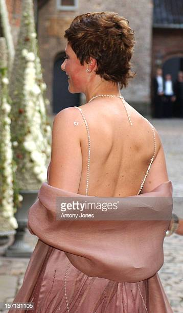 Princess Martha Louise Of Norway Attends A Gala Dinner At Akershus Castle On The Evening Before The Wedding Of Crown Prince Haakon MetteMarit