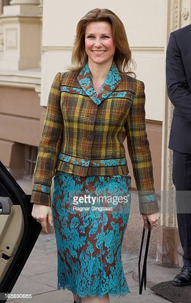 Princess Martha Louise of Norway attends a reception for Norwegian athletes on April 5 2013 in Oslo Norway