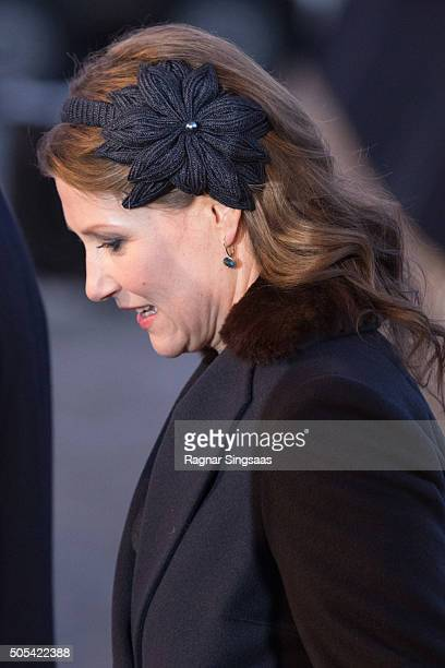 Princess Martha Louise of Norway attends the 25th anniversary of King Harald V and Queen Sonja of Norway as monarchs on January 17 2016 in Oslo Norway