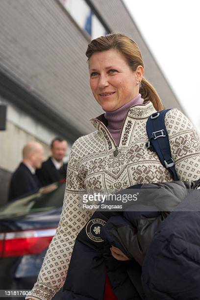 Princess Martha Louise of Norway attends the FIS Nordic World Ski Championship 2011 Mens Cross Country Pursuit at Holmenkollen on February 27 2011 in...