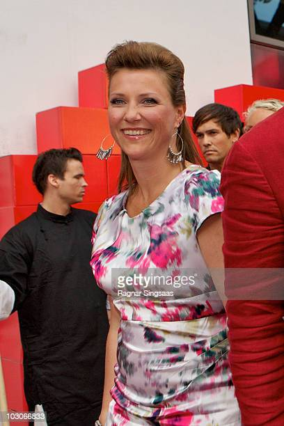 Princess Martha Louise of Norway attends the Norwegian premiere of 'The Karate Kid' on July 23 2010 in Fredrikstad Norway