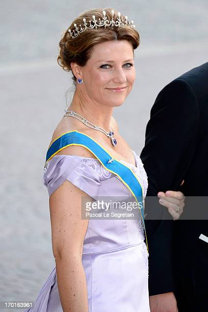 Princess Martha Louise of Norway attends the wedding of Princess Madeleine of Sweden and Christopher O'Neill hosted by King Carl Gustaf XIV and Queen...