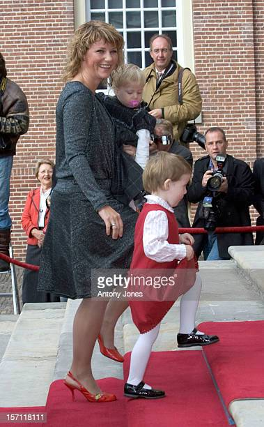 Princess Martha Louise Of Norway Children Maud Angelica Leah Isadora Attend The Christening Of Prince Constantijn Princess Laurentien Of The...