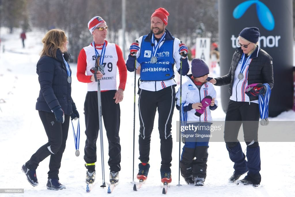 Prince Haakon And Princess Mette Marit Of Norway Attend The 50th Ridderrenn