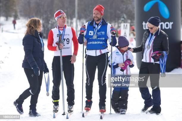 Princess Martha Louise of Norway Helge Flo Prince Haakon of Norway Princess Ingrid Alexandra of Norway and Princess MetteMarit of Norway attend the...