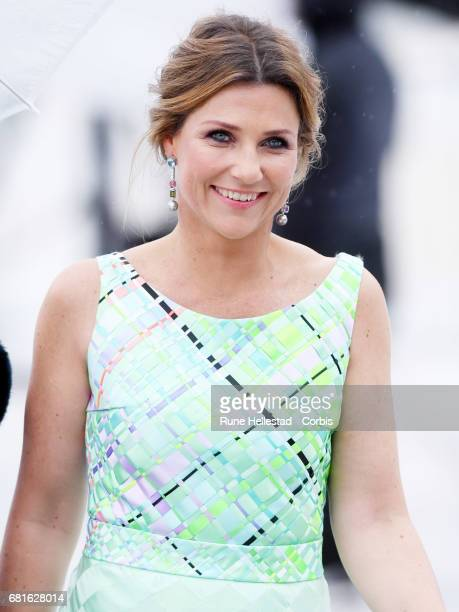 Princess Martha Louise of Norway is seen arriving at the Opera House on the occasion of the celebration of King Harald and Queen Sonja of Norway 80th...