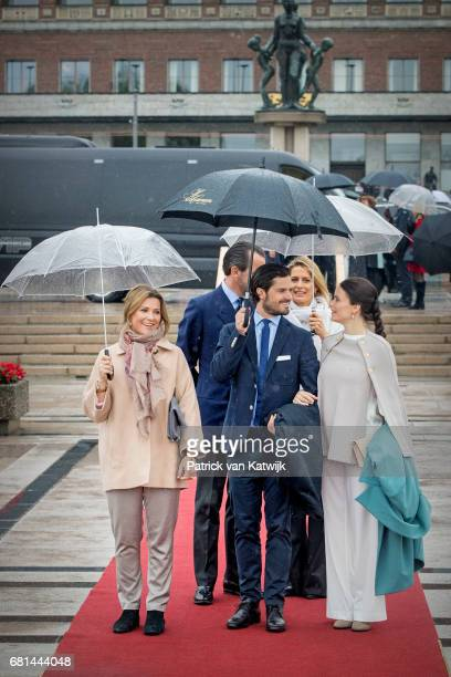 Princess Martha Louise of Norway Prince Carl Philip of Sweden and Princess Sofia of Sweden attend a lunch on the Norwegian Royal yatch 'Norge'to...