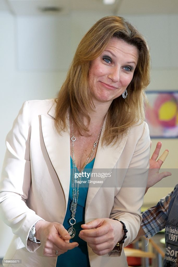 Princess Martha Louise of Norway Visits Haukasen Elementary School In Oslo On The School's 40th Anniversary on May 30, 2013 in Oslo, Norway.